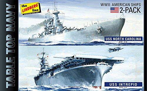 プラッツ 1/1200 第二次世界大戦 テーブルトップ ネイビー 2パック USS イントレピッド & USS ノースカロライナ プラモデル HL419