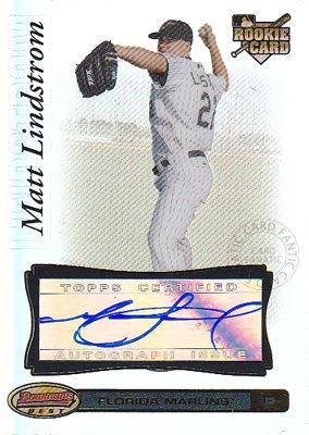 【マット リンドストロム】MLB 2007 Bowman's Best Rookie Autographs (Matt Lindstrom) (直筆サインカード)