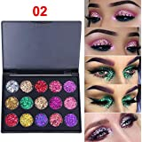 Eyeshadow Palette Guesthome, 15 Bright Colors Matte Shimmer Eyeshadow Makeup Pallete - Long lasting and High Pigment Silky Powder Eye Shadow Cosmetics Set