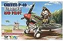 ティーモデル キュートファイターシリーズ P-40ウォーホーク with 犬パイロットフィギュア プラモデル TMOTT002