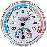 Household Analog Thermometer Hygrometer Temperature Humidity Monitor Meter Gauge,White