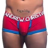 S レッド (アンドリュークリスチャン) AndrewChristian メンズ下着 ボクサーパンツ メンズインナー パンツ 男性下着 ローライズ セクシー