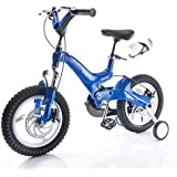 Mariny キッズの自転車3?11歳のユニセックス子供用自転車14/16インチベビーキャリッジマウンテントライクトレーニングホイール付き (色 : 青, サイズ さいず : 16