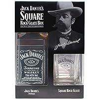 ジャックダニエル ブラック(スクエアロックグラス付ボックス) [ ウイスキー アメリカ合衆国 700ml ] [ギフトBox入り]