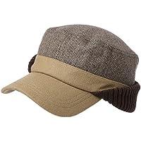 SIGGI Winter Wool Baseball Cap Earflap Hat Fitted Hunt Military Hats Soft Lined