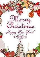 igsticker ポスター ウォールステッカー シール式ステッカー 飾り 182×257㎜ B5 写真 フォト 壁 インテリア おしゃれ 剥がせる wall sticker poster 009975 クリスマス リース 雪だるま