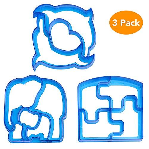 Choppie サンドイッチカッター 子供用 食品グレード プラスチック サンドイッチとパンカッター 弁当箱用 子供にやさしい 幼児 サンドイッチカッター 3種類のかわいい形状 様々なサンドイッチ型フードカッター