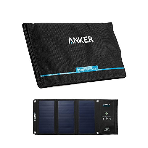 Anker PowerPort Solar (21W 2ポート USB ソーラーチャージャー) iPhone 6 / 6 Plus / iPad Air 2 / mini 3 / Xperia / Galaxy S6 / S6 Edge / Android各種他対応 【PowerIQ搭載】