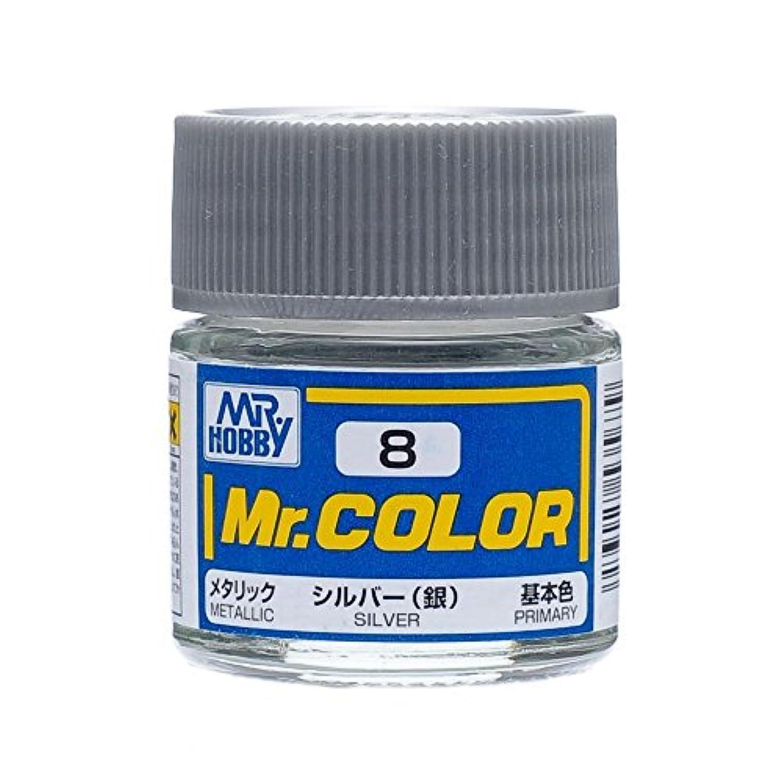 【溶剤系アクリル樹脂塗料】Mr.カラー C8 シルバー (銀)