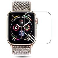 Apple Watch フィルム 44mm【液晶全面保護】 (高透明度&99% 透過率) 【Apple Watch Series 4 (44mm)に適用】衝撃防止 凹み傷防止 指紋防止 良質TPUフィルム HD画面対応 厚さ0.18mm 良いタッチ感度 貼り直し可 貼り付けフルセット付き Apple Watch 42mm Series 4/Nike+ /Edition/Hermes対応