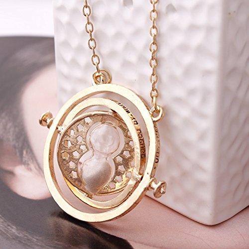Harry Potter Hermione reverse clock time Turner pendant necklace cosplay props (white)