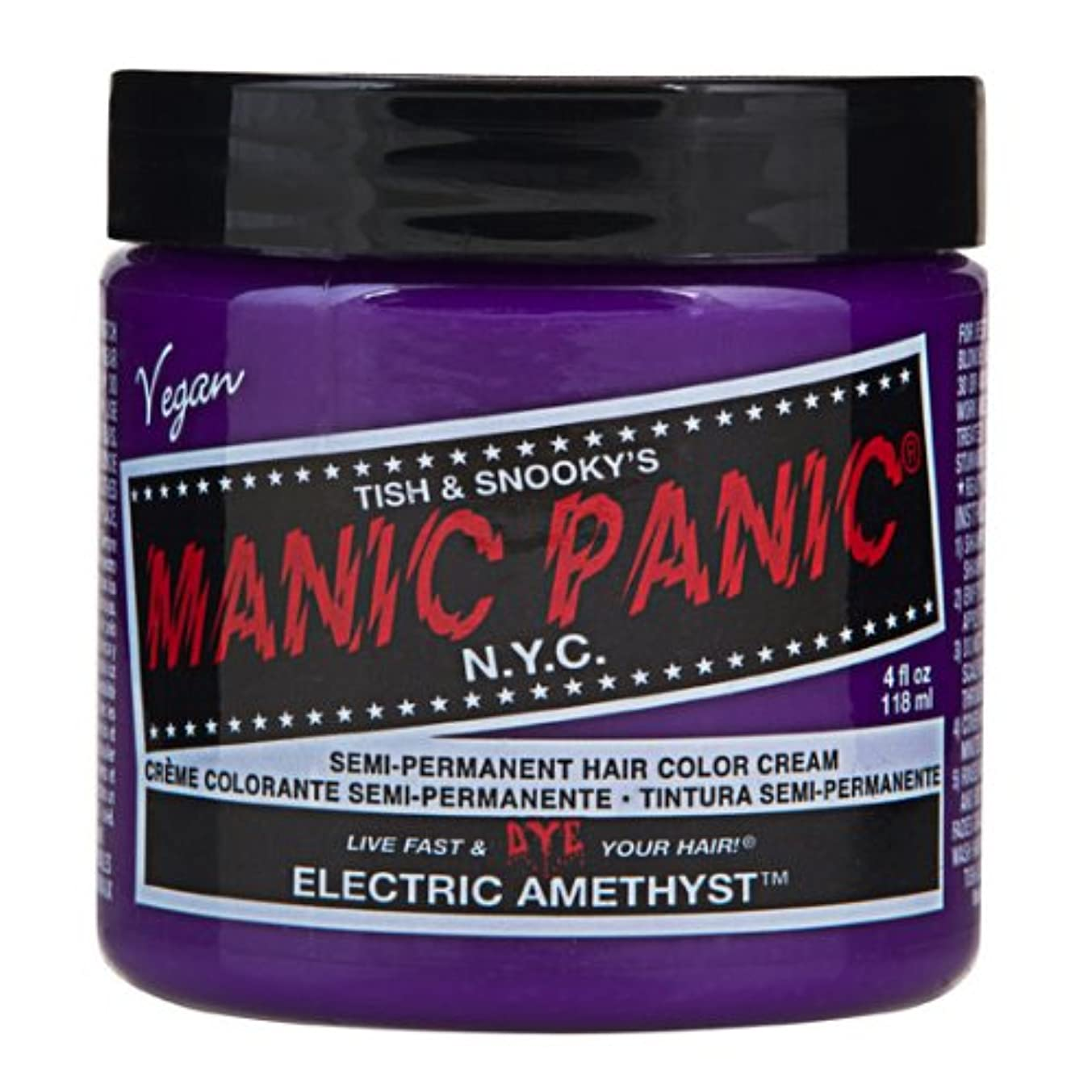 出発する静的ケイ素マニックパニック MANIC PANIC ヘアカラー 118mlエレクトリックアメジスト ヘアーカラー