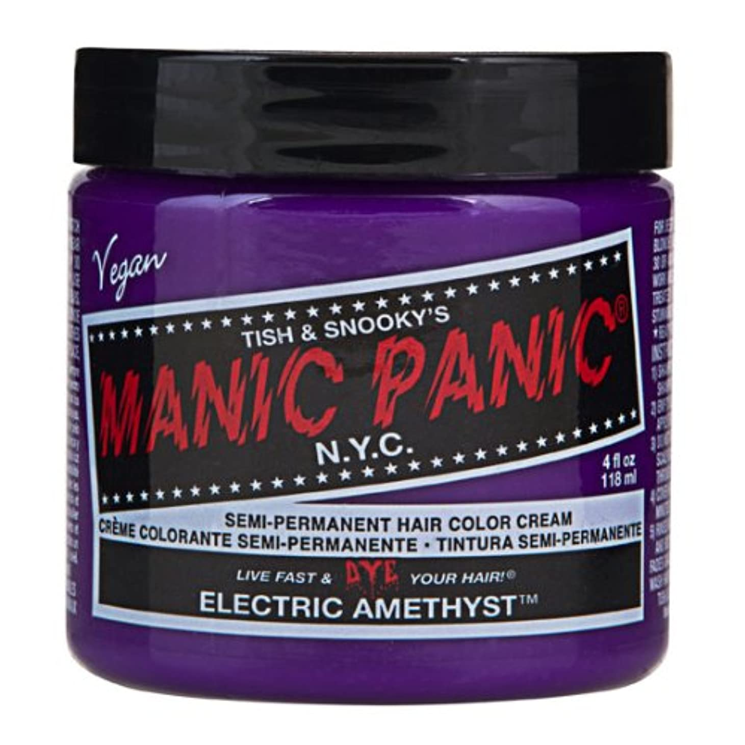 絶壁マークされた型スペシャルセットMANIC PANICマニックパニック:Electric Amethyst (エレクトリック?アメジスト)+ヘアカラーケア4点セット