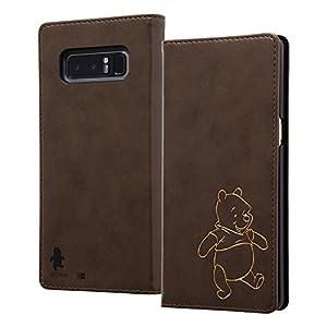 レイ・アウト Galaxy Note8 ケース 手帳型 ディズニーキャラクター ホットスタンプ ワンポイント/くまのプーさん RT-DGN8I/PO