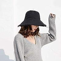 Chuiqingwang 女性のための帽子、夏の女性の漁師の帽子サンバイザー日焼け止めコットンキャップに沿って大きい折りたたみやすく、アウトドア旅行に欠かせない (Color : A, サイズ : M)