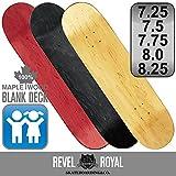 レベルロイヤル(Revel Royal) スケートボード エリート ブランク 7.25インチ デッキ スケボー 木目 無地 ナチュラル 100% メイプル キッズ 子供用