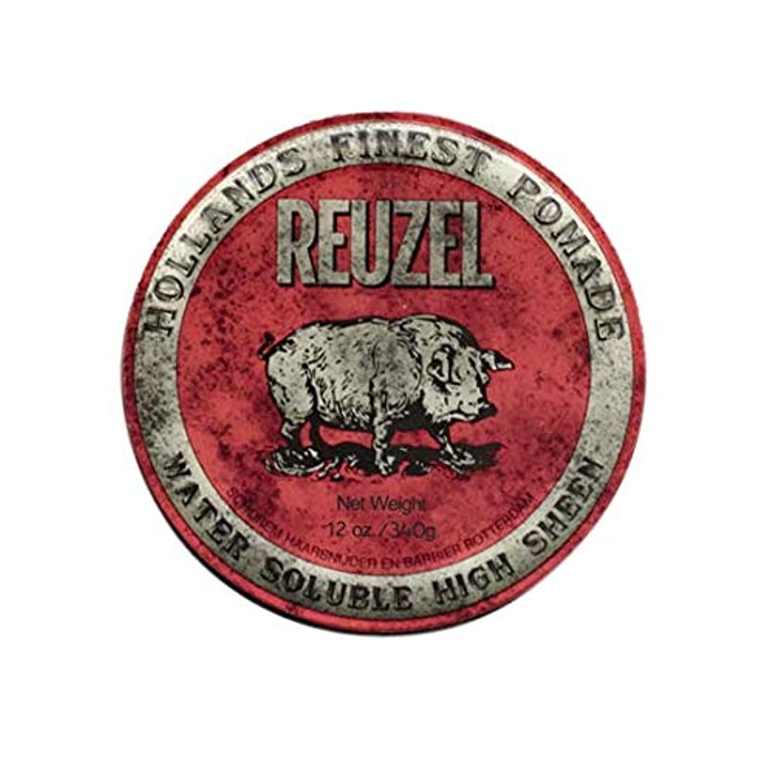 リングバックパニック予備ルーゾー(REUZEL) ミディアムホールド レッド HIGH SHINE 340g