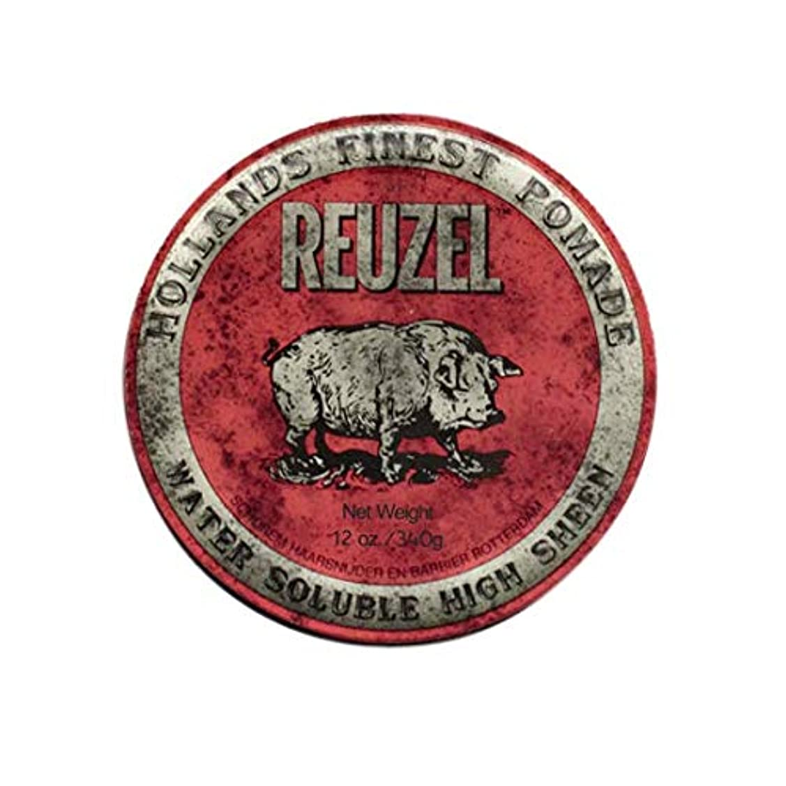 分析的スカートさわやかルーゾー(REUZEL) ミディアムホールド レッド HIGH SHINE 340g