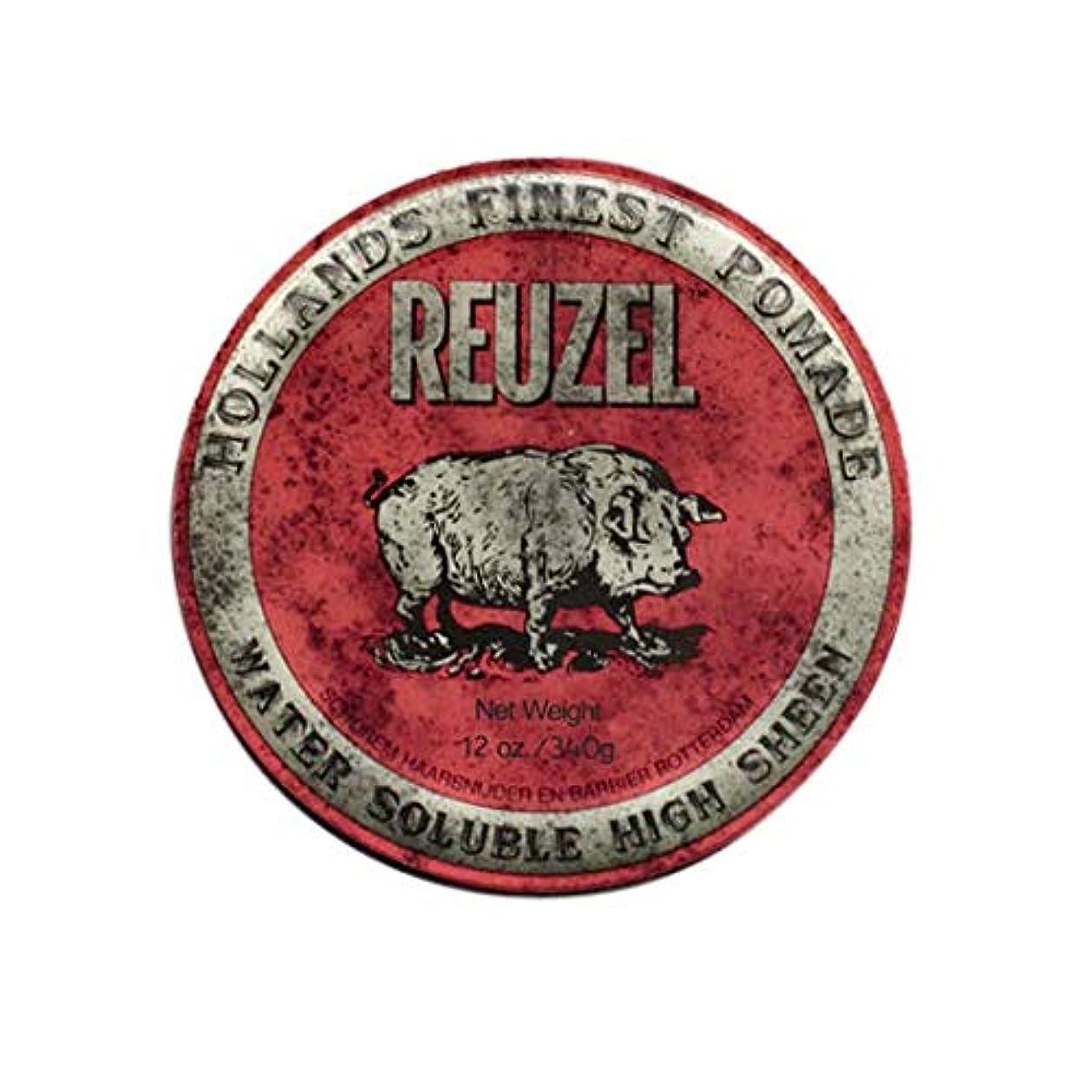 落ち着いた学校教育構成員ルーゾー(REUZEL) ミディアムホールド レッド HIGH SHINE 340g