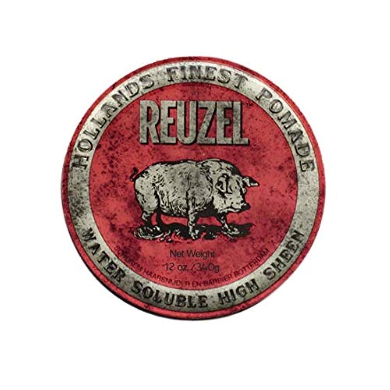 エンジニアかすれたリーフレットルーゾー(REUZEL) ミディアムホールド レッド HIGH SHINE 340g