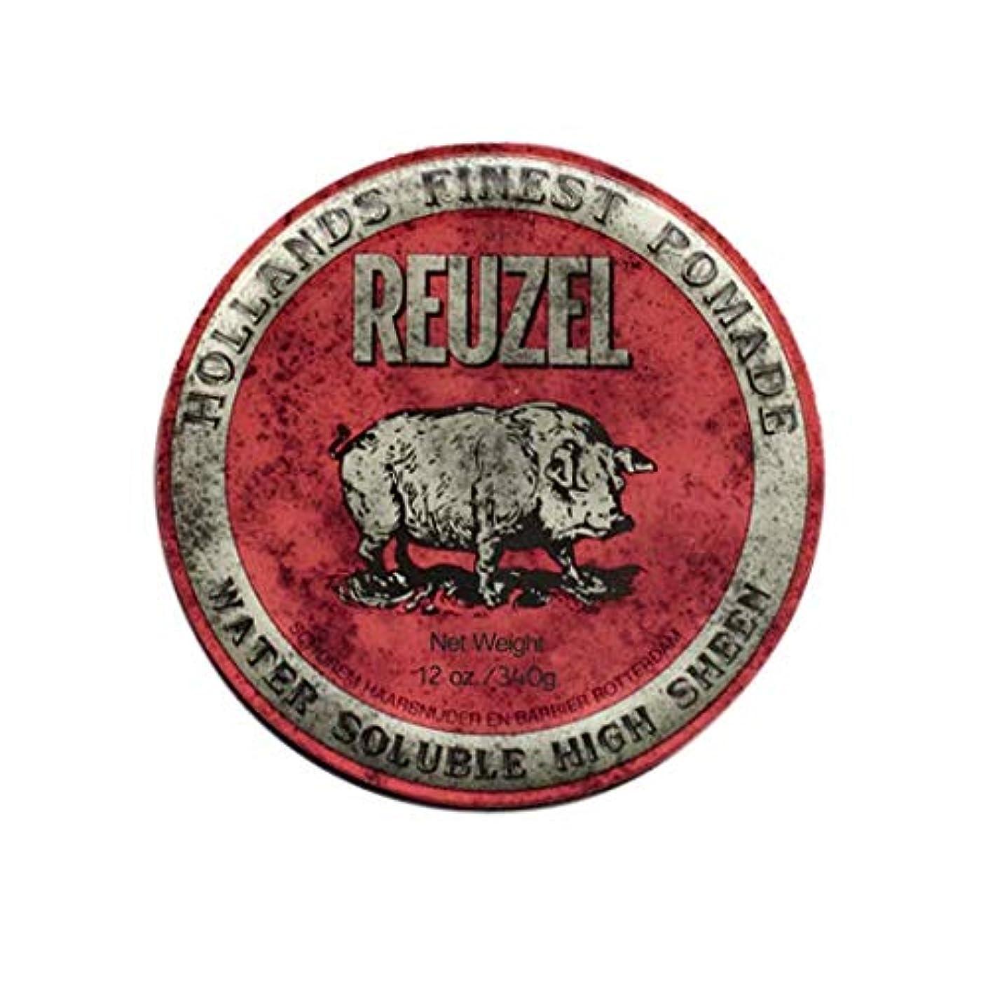 静脈送金ほこりっぽいルーゾー(REUZEL) ミディアムホールド レッド HIGH SHINE 340g