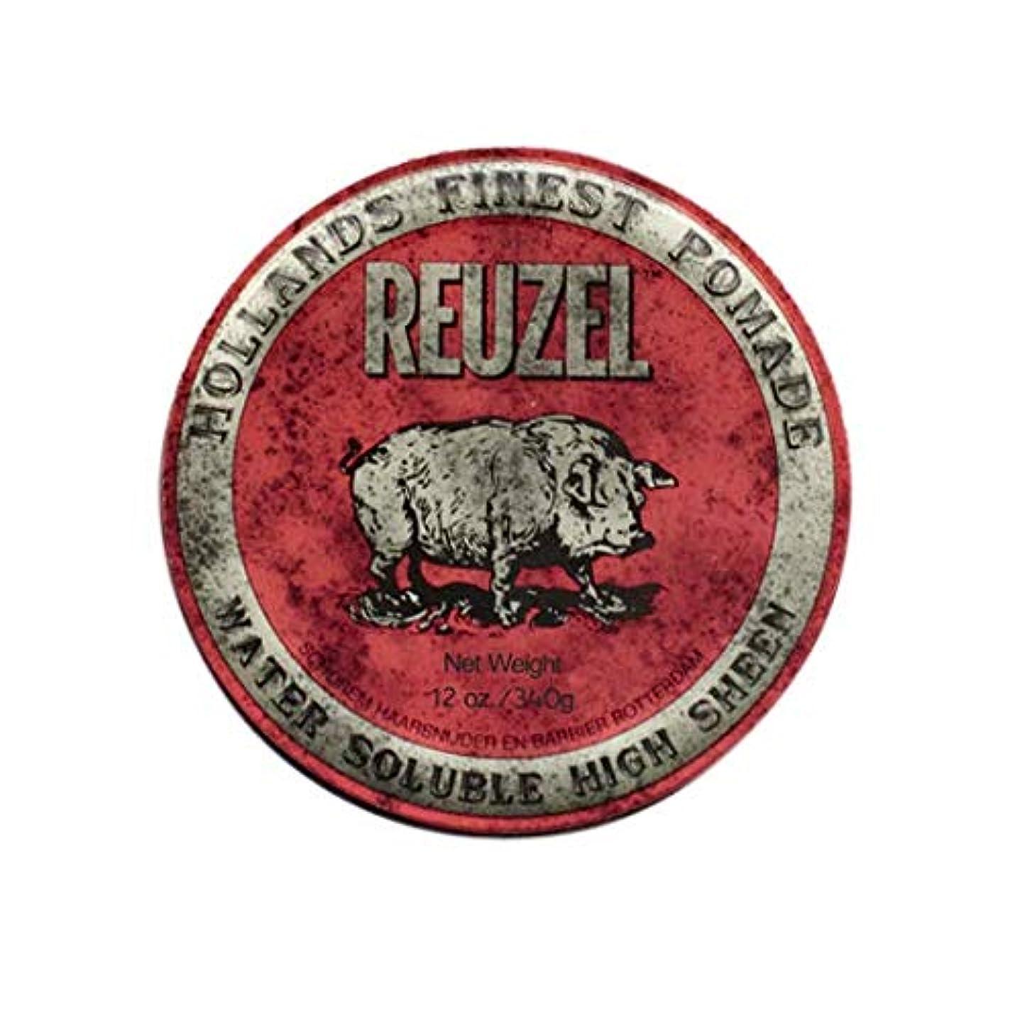 ビット漫画調整するルーゾー(REUZEL) ミディアムホールド レッド HIGH SHINE 340g