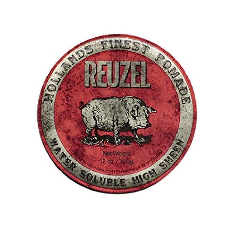 巨大乱雑なグラフルーゾー(REUZEL) ミディアムホールド レッド HIGH SHINE 340g