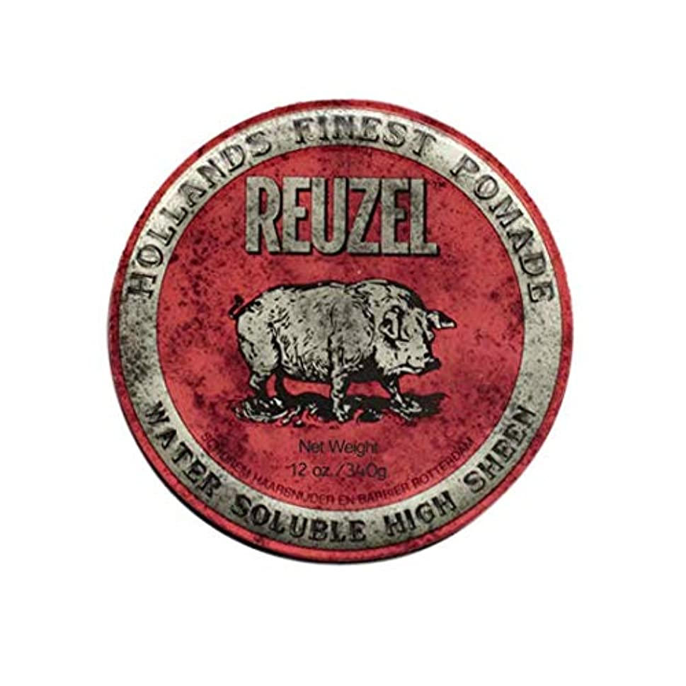ランドリー肯定的影のあるルーゾー(REUZEL) ミディアムホールド レッド HIGH SHINE 340g