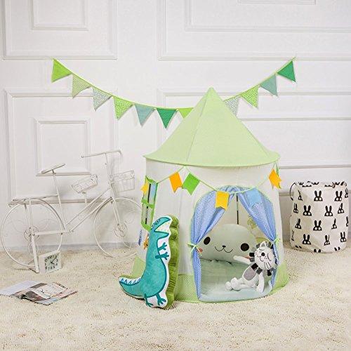 グリーンキッズテント 子供用テント 折り畳み式 春  緑 室...