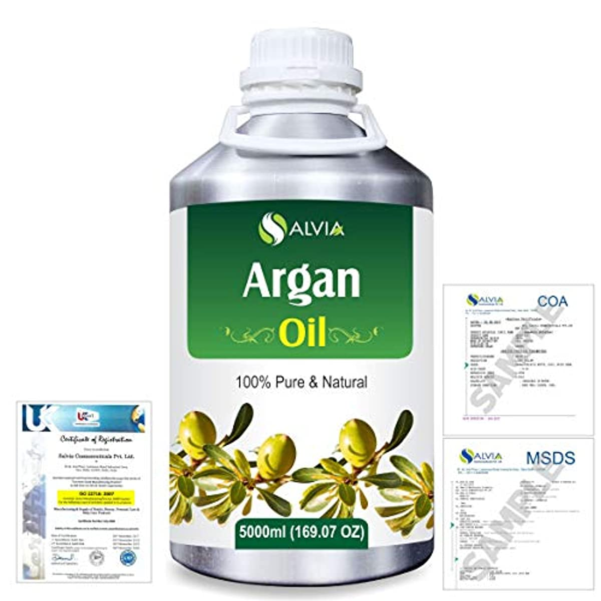 水銀の責め支給Argan (Argania spinosa) 100% Natural Pure Essential Oil 5000ml/169fl.oz.