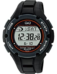 [シチズン キューアンドキュー]CITIZEN Q&Q 腕時計 SOLARMATE (ソーラーメイト) 電波ソーラー デジタル表示 クロノグラフ 10気圧防水 ブラック MHS6-300 メンズ