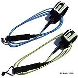 プレミアム リーシュコード ショートボード用 サーフボード / サーフィン 用 リーシュ EdgeCore (183cm ブルー 6フィート x 6mm)