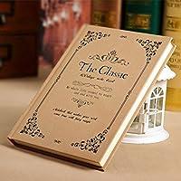 クリエイティブなシンプルな日記A5の目を肥厚させる学生ノートブックの文房具ハードコピービジネスメモ , beige lace - l