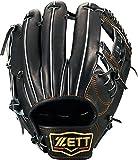 ZETT(ゼット) 硬式野球 プロステイタス グラブ (グローブ) セカンド・ショート用 ブラック(1900) 右投げ用 BPROG540