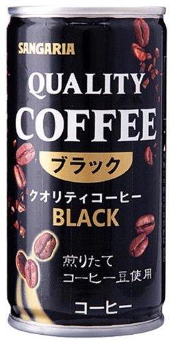 クオリティコーヒー ブラック 185g ×30缶
