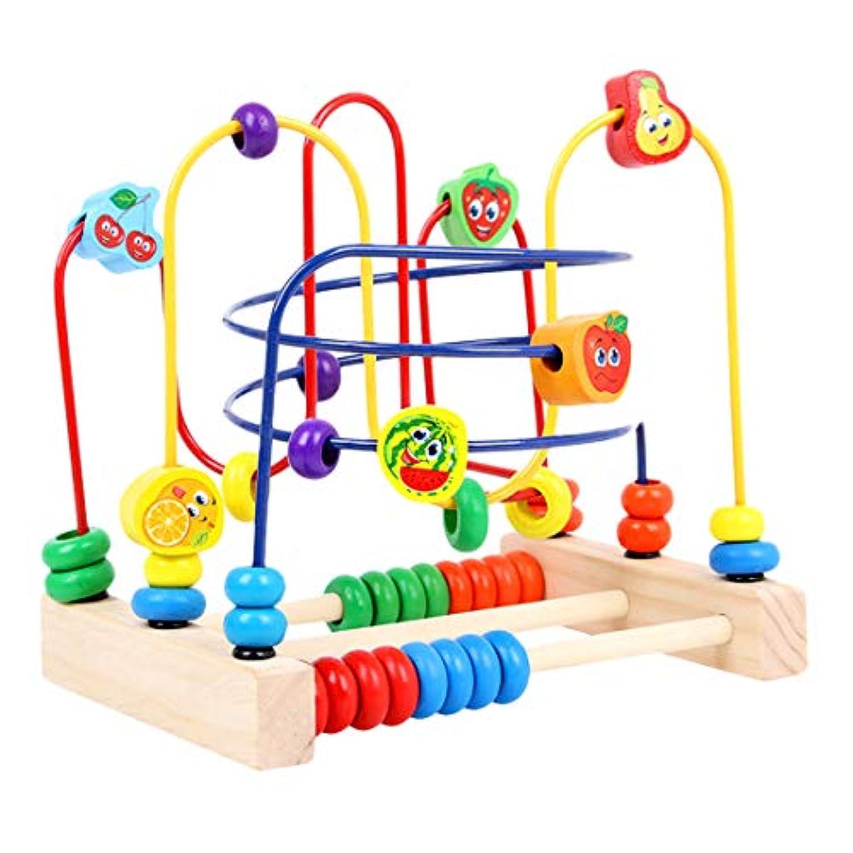 Yamix ビーズ迷路 木製ビーズローラーコースター 木製教育玩具 赤ちゃん 幼児 男の子 女の子用 S QHRDB1201182TJ17OGD