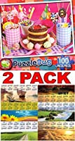 Party Sweets–Puzzlebug–100ピースジグソーパズル+フリーボーナス2016年マグネットカレンダー–バンドル–2アイテム