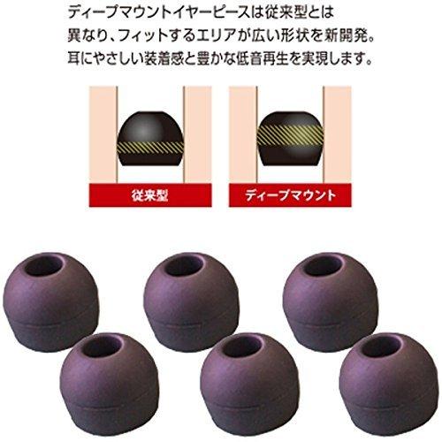 RADIUS イヤーピース deep mount earpiece 単品 S   HP-DME03K