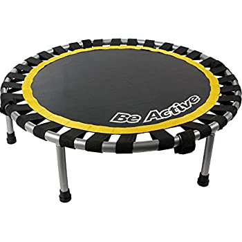 Be Active(ビーアクティブ) 楽しく跳んで引き締めるトランポリン ブラック 直径91cm BA-5502