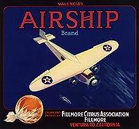 飛行船ブランド–Fillmore、カリフォルニア–Citrusクレートラベル 24 x 36 Giclee Print LANT-57097-24x36