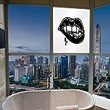 YOLIYANA 静電気でくっつく装飾ウィンドウフィルム 吸血鬼 キッチン 寝室 リビングルームに最適 かわいい 面白い カートゥーン コウモリ マスコット 鮮やか 17''x24'' YO_03_04_Q0404_074686