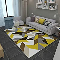 スタイリッシュな家のシンプルなカーペットのリビングルームの床暖かい長方形の黄色と白のマットマット120 * 160 cm(サイズ:160 * 230 cm-b)