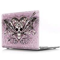 13.3インチMacBook Pro New用ケースCover - L2W PCアクセサリ硬質プラスティックハロウィンの図案プロテクタースリーブFor Apple MacBook Pro 13インチ搭載Touch Bar型番A1989/A1706/A1708,ピンクの髑髏
