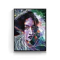 ダイヤモンド塗装キャラクターDiy 5Dキットフル塗装女性ドリル用ホーム壁の装飾ギフト刺繍ラインストーン貼り付けクロスステッチアート、40x50cm