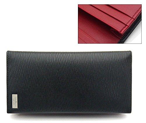 (フェラガモ)ferragamo メンズカード長財布・ブラックxレッド・66-9968 並行輸入品