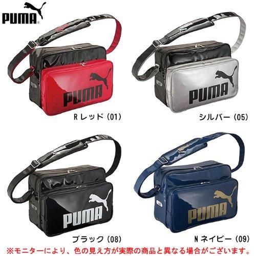 PUMA(プーマ) TSシャイニー タイプB ショルダーL 071473 エナメルバッグ 2013年新カラー (ブラック(08), F)