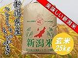 平成29年産 新潟県産 こしいぶき 玄米25kg 検査1等米 【玄米色彩選別済み】