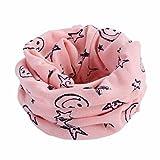 Tonsee ベビー 暖かい マフラー 可愛い カートゥーン パターン 赤ちゃん 柔らか ネックウォーマー 防寒 (ピンク)