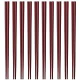 業務用 エコ箸 10膳セット(あずき色) SPS樹脂使用ECO箸 食器洗浄器・高温保管庫対応 22.5cm×3mm角(箸先)