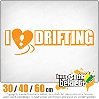 I love drifting - 3つのサイズで利用できます 15色 - ネオン+クロム! ステッカービニールオートバイ